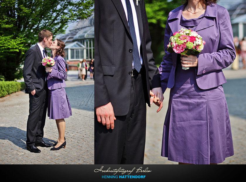 Hochzeitsfotograf Berlin Standesamt Hochzeit im Botanischen Garten