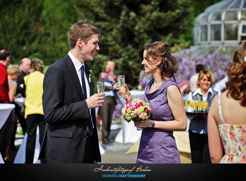 Hochzeitsfotograf Berlin Hochzeitsreportage im Botanischen Garten