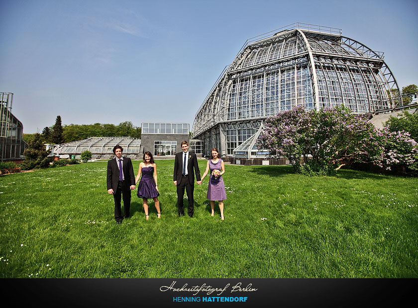 Hochzeitsfotograf Berlin Hochzeit im Botanischen Garten