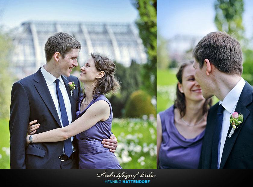 Hochzeitsfotograf Berlin Hochzeitsportrait im Botanischen Garten
