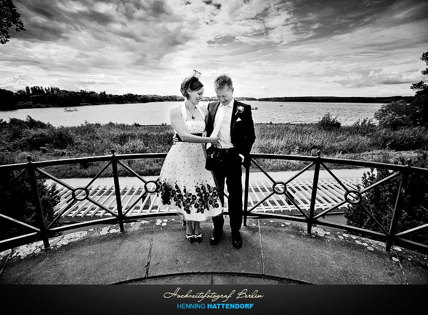 Hochzeitsfotograf Berlin Hochzeitsportrait am Jungfernsee