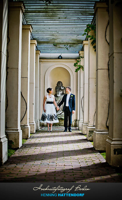 Hochzeitsportrait am Schloss Glienicke
