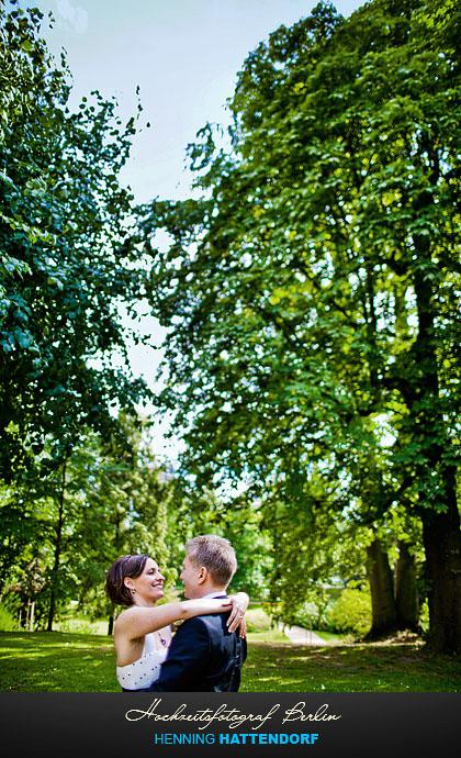 Hochzeitsportrait im Schlosspark Glienicke