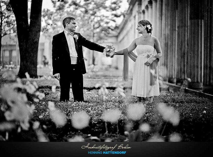 Hochzeitsfotograf Berlin Hochzeitsportrait auf der Museumsinsel
