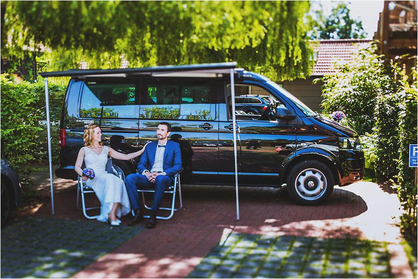 Hochzeitsfotograf Luebben Lübben VW Bus Bulli T5
