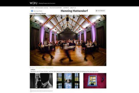 Hochzeitsfotograf Berlin WPJA Wettbewerb Auszeichnung
